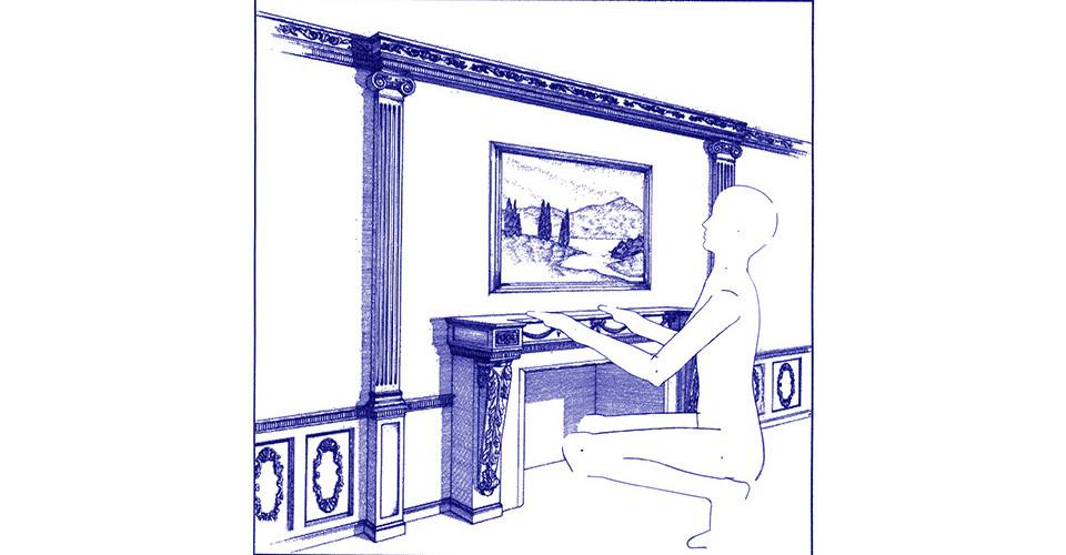 average female (8), 1997, blueprint, 18 x 24