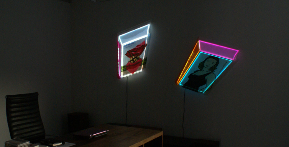 Installation view of Lighting Books, 2011