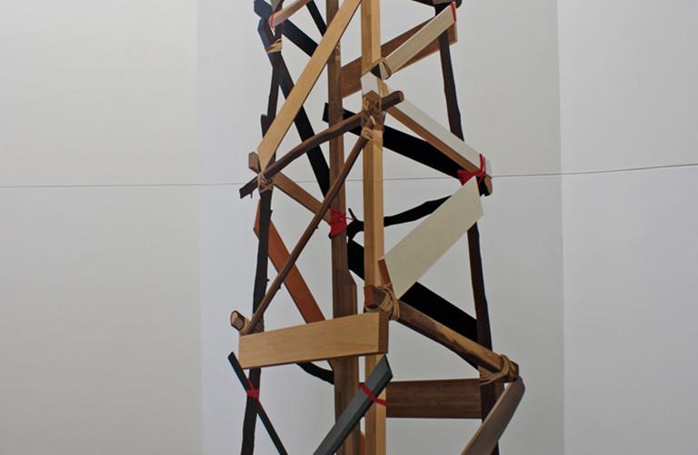 어떤 망루, 2012, 시트지, 1190 x 527 cm, Installation view of Art Spectrum, Leeum, Seoul