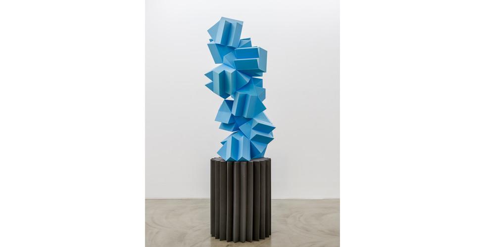 Silent Memorial-I, 2021, Sponge, Wood, Styrofoam, 300 x 90 x 80cm