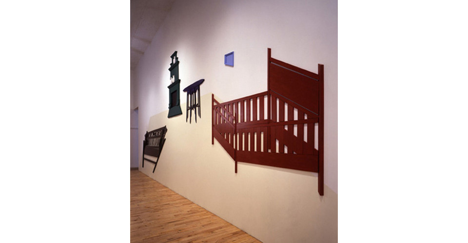 The Master's Drawing Room, 1996, wood, paint, plaster, variable dimensions