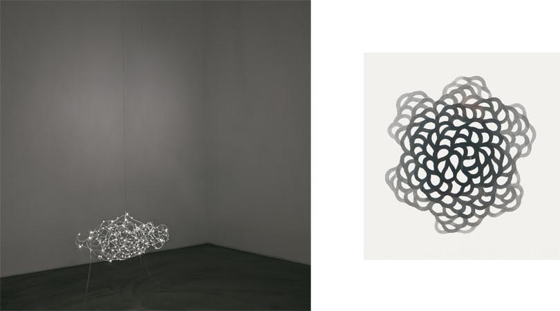 기억의 노선 (Circuit of Memory), 2011, electric wire+LED, 65 × 45 ×30 m