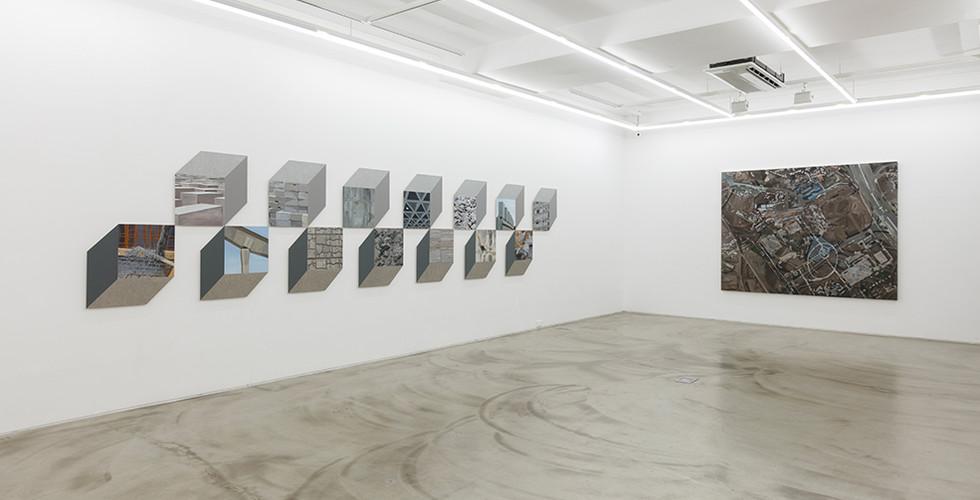 Installation view of solo exhibition, Capricious Land, Gallery Simon, 2016
