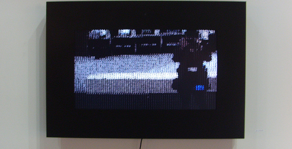"""Nice to Meet You_I Know You, 2008, digital camera, 42"""" LCD panel, computer, JAVA, 93 x 124 cm"""