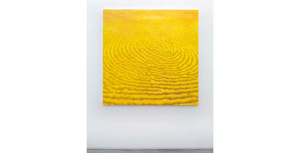 Light Lines, 2018, acrylic & phosphorescent pigment on canvas, 137 x 137 cm
