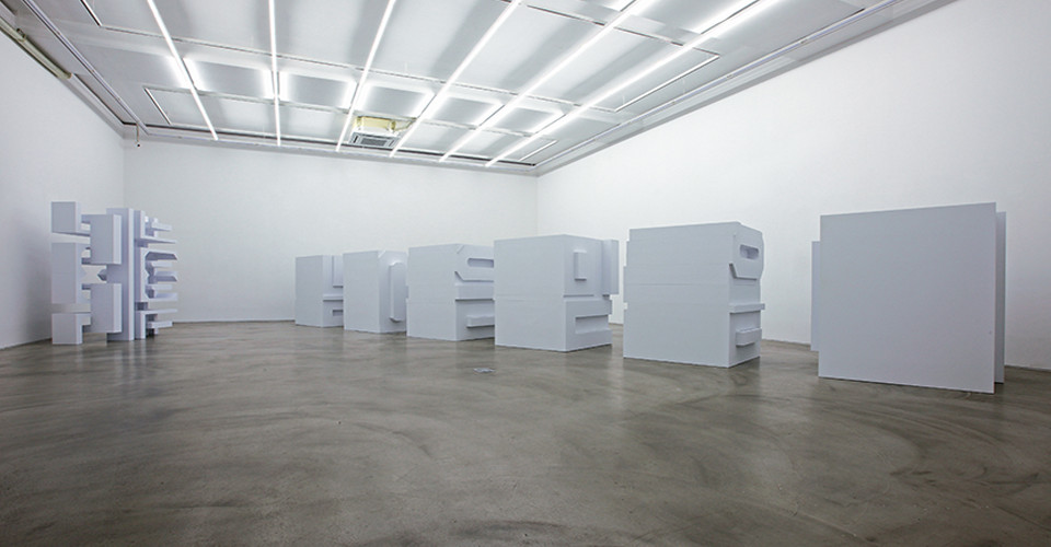 Installation view of In Between, Seeing, Gallery Simon, 2015