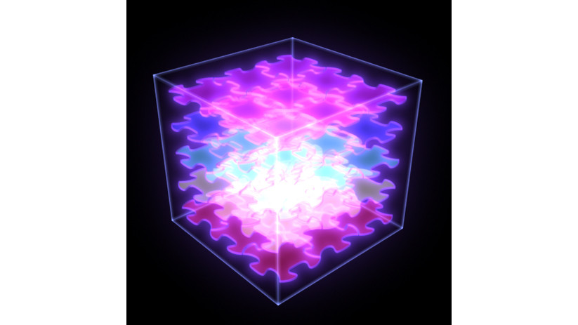 His Puzzle, 2005, digital production, custom electronics, LCD, maple, 63 x 63 cm