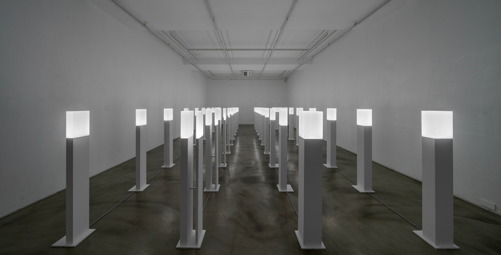 Installation view of In Between Five Colors, Gallery Simon, 2020