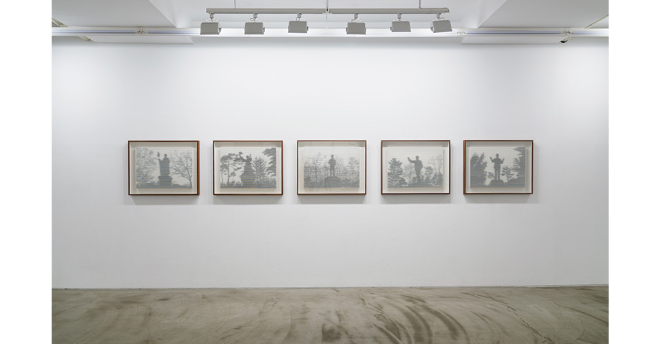 History of Liberty #01, #02, #03, #04, #05 (from left), 2019, rising museum board, pigment print, wooden frame,  67.3 x 85.8 x 5.4 cm (each)