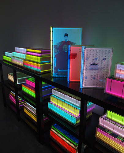 Installation view of solo exhibition The Luminous Poem, Bryce Wolkowitz Gallery, New York, 2015