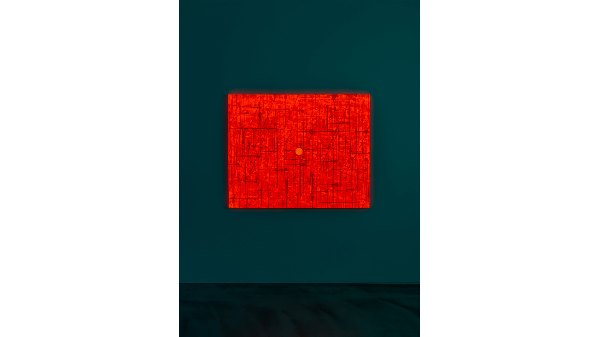A Particle, 2020, acrylic & phosphorescent pigment on canvas, 130 x 162 cm