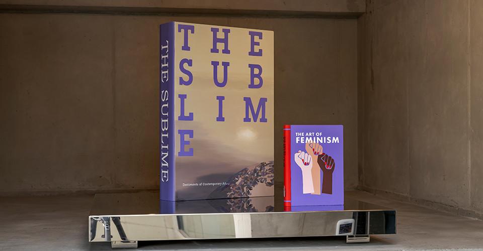 The Sublime, 2012, Acrylic on plexiglas, 41 x 58.5 x 10.5 cm(left), The Art of Feminism, 2020, Acrylic on canvas, Plexiglas, 18.1 x 24 x 2.9 cm(right)