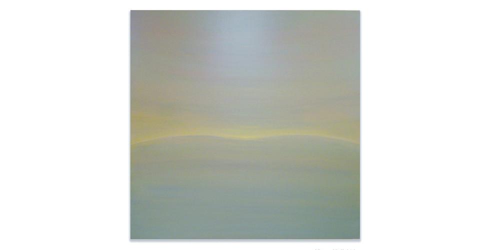 Beyond the Sunset, 2011, acrylic on wood panel, 92 x 92 cm