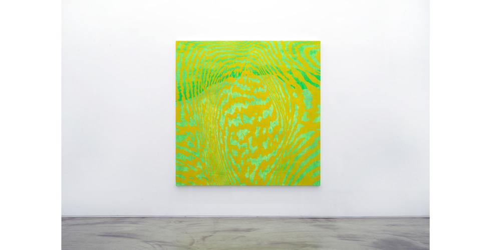 Light Lines, 2018, acrylic & phosphorescent pigment on canvas, 180 x 180 cm