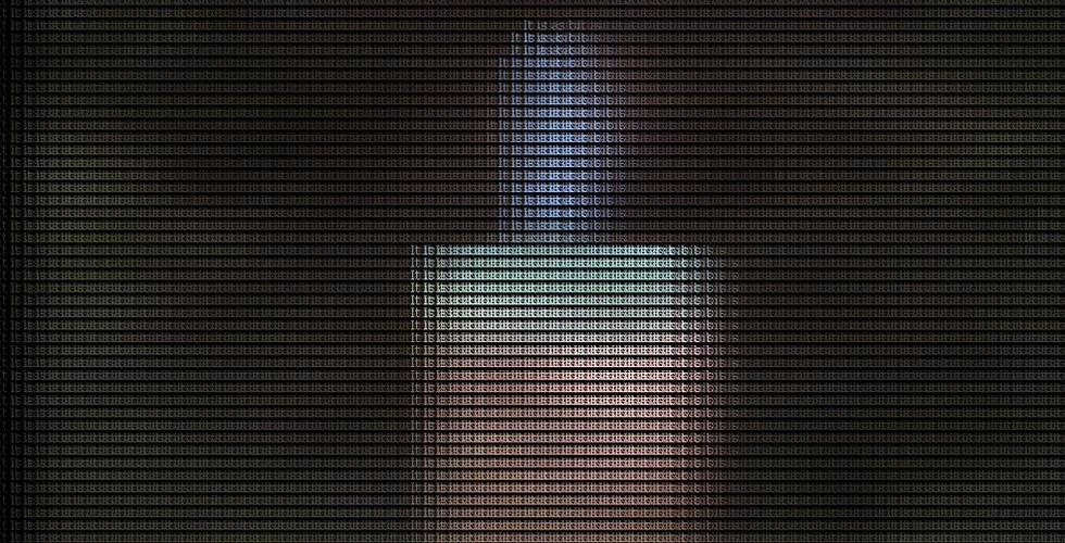 Candlelight, 2008, digital camera, LCD panel, computer, JAVA, 93 x 124 cm