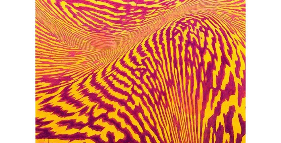 Light Lines, 2018, acrylic&phosphorescent pigment on canvas_194 x 259 cm