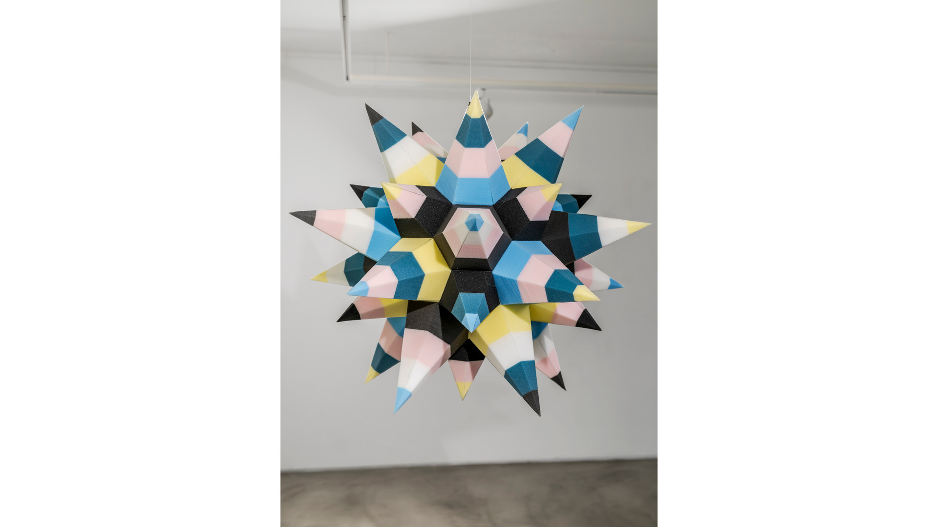 Silent Piñata, 2021, Sponge, Styrofoam, 100 x 100 x 100cm