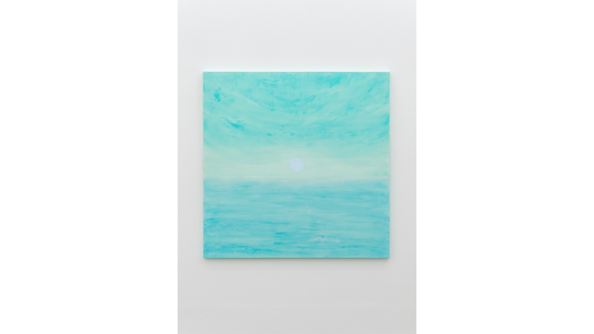 A Particle over the Horizon, 2020, acrylic & phosphorescent pigment on canvas, 137 x 137 cm
