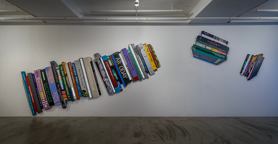 Installation view of The Uprising of Books, Gallery Simon, 2020