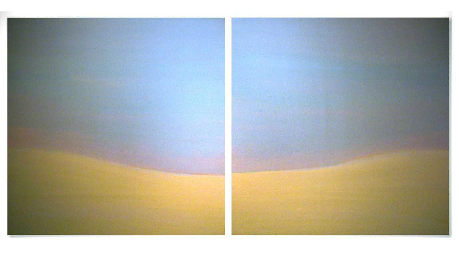 Beyond the Sunset, 2010-11, acrylic on wood panel, 92 x 92 cm each