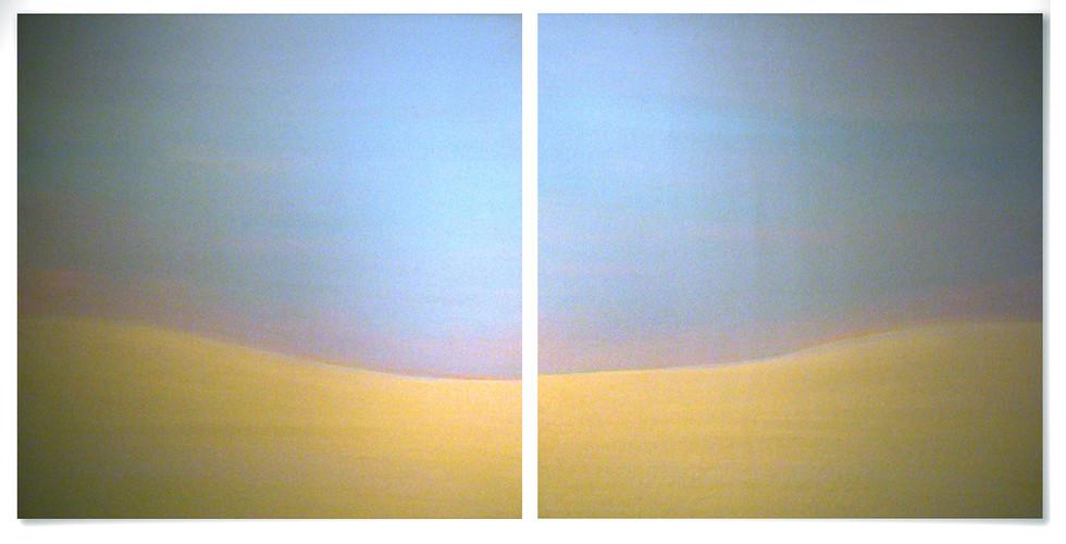 Beyond the Sunset, 2010-11, acrylic on wood panel, 92 x 92 cm each