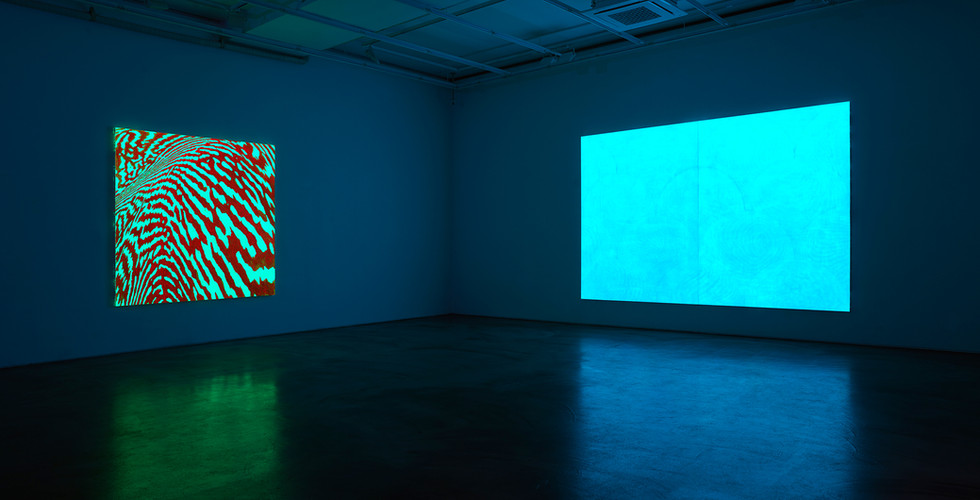 Installation view of Light of Lightness, Gallery Simon, 2018