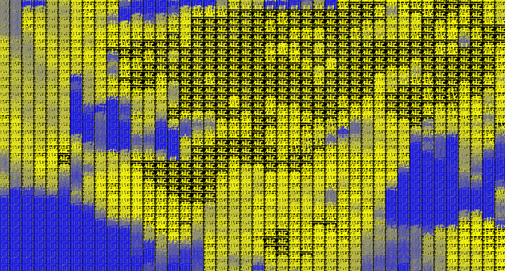Tracing Types_YB, 2008, digital camera, LCD panel, computer, JAVA, 58.5 x 76 cm