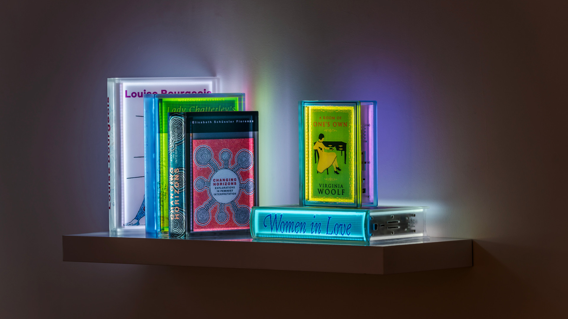 Installation view of Digital Book Project, Gallery Simon, 2020