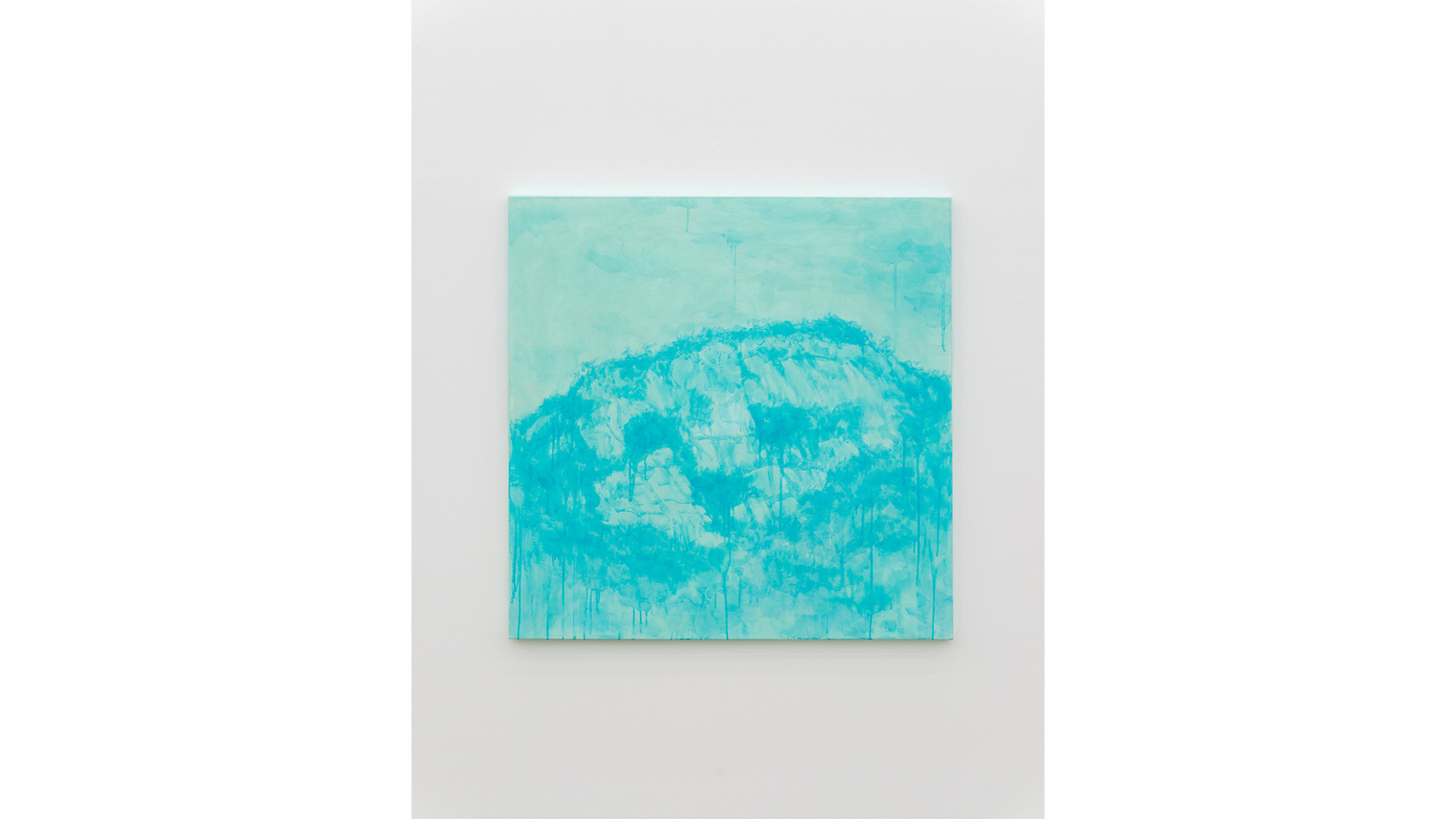 The Inwangsan Mountain with A Particle, 2020, acrylic & phosphorescent pigment on canvas, 107 x 107 cm