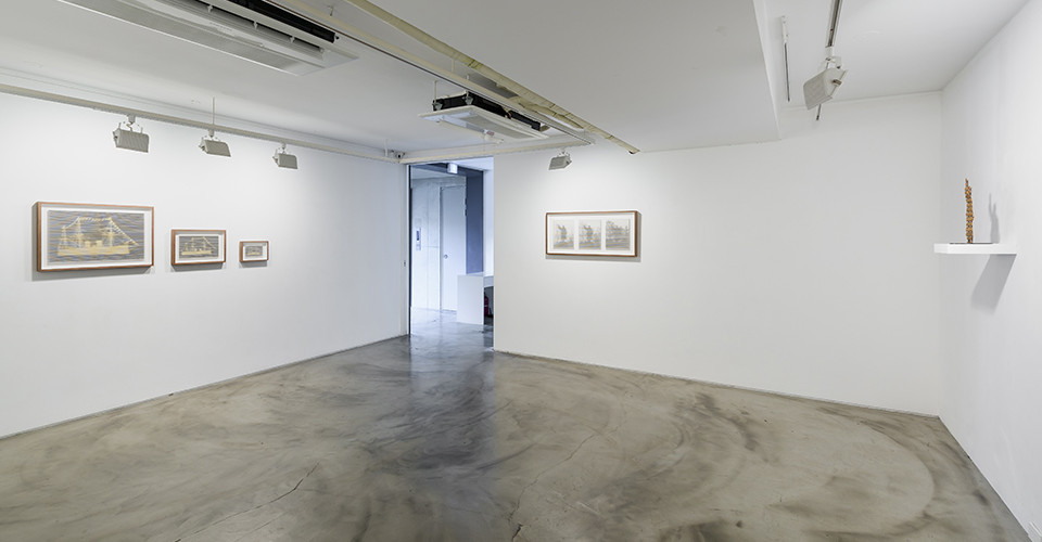 Installation view of Tracing Times, Gallery Simon, 2019