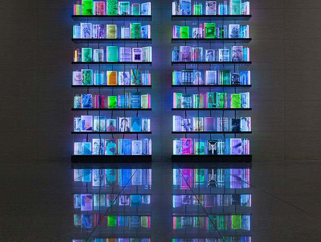 Installation view of Luminous Library, Artist Project III, Museum of Contemporary Art Busan, 2018