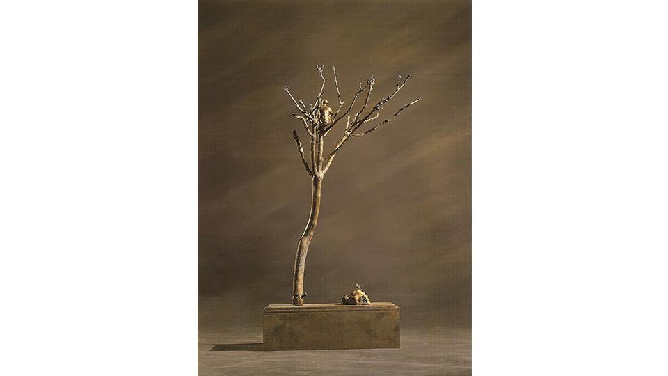 Hwang, Hyun-Soo, The Man Who Became a Bird, 2004, bronze, 60 x 80 x 50 cm