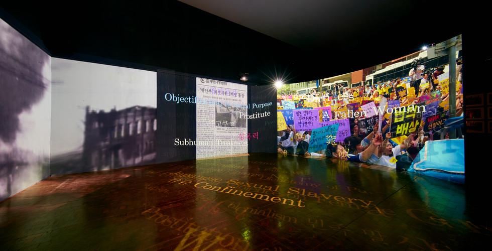 Installation View of Revoice, East Asia Feminism FANTasia, Seoul Museum of Art, Seoul, 2015