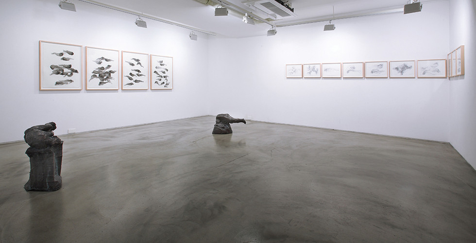 Installation view of solo exhibition, Lying with Mahler, Gallery Simon, 2017