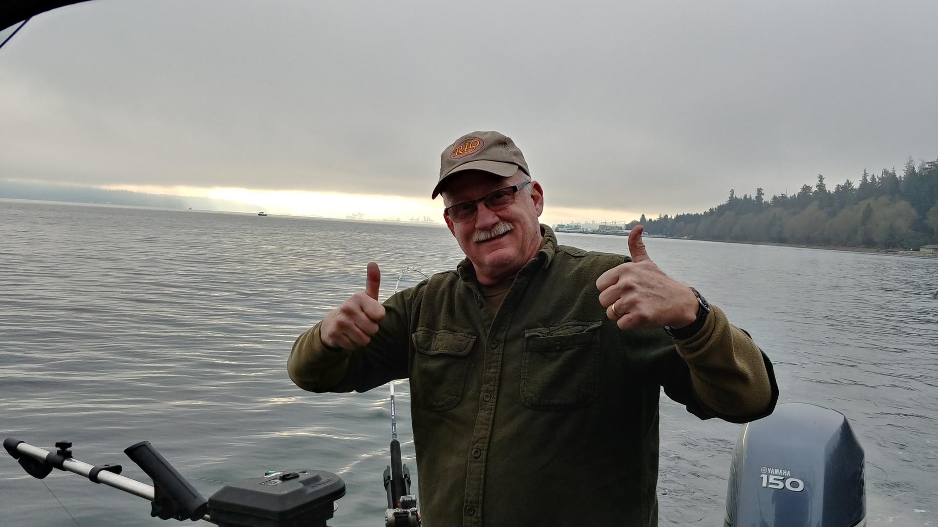 Skipper Brian on Puget Sound
