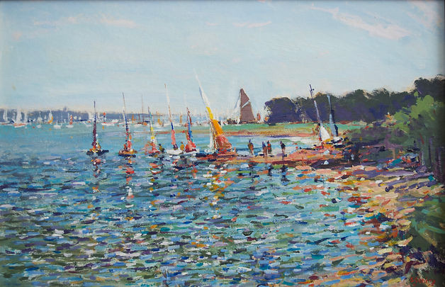 Edward Gentry, artist, painter, for sale, River Orwell, Pin Mill, Nicholas Holloway, Suffolk, Gallery