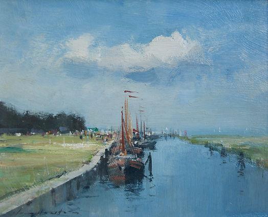 Ian Houston artist for sale Edward Seago paintings Norfolk Marine East Anglian Suffolk Nicholas Holloway