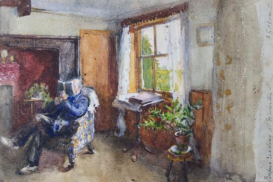 Alma Gogin artist for sale watercolour interior scenes Bloomsbury Brighton SuNicholas Holloway