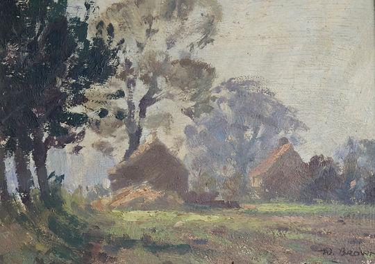 Nicholas Holloway W Brown Haystacks impressionist seago george clausen