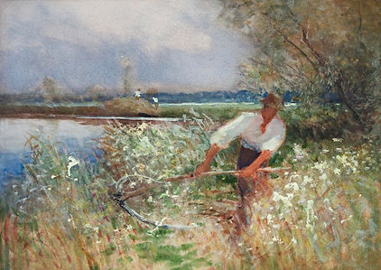 Nicholas Holloway Charles Mayes Wigg artist paintings Norfolk Broads art paintings sale paintings