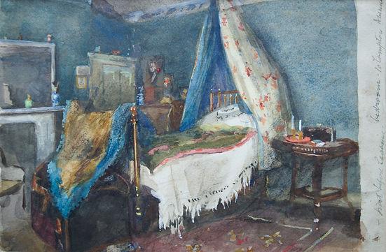 Alma Gogin artist for sale watercolour interior scenes Bloomsbury Brighton Nicholas Holloway Vanessa Bell