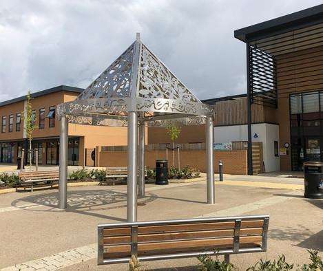 Pavilion, nursery and shops