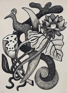 Bird, Leaves and Seeds