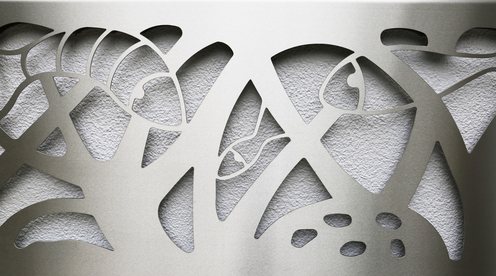 Detail of Stainless steel panel