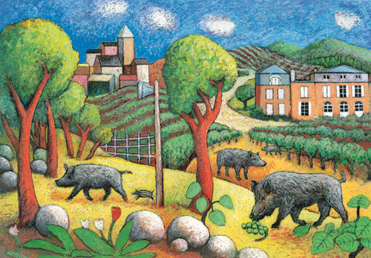 Boars in the Vineyard (jacket cover)