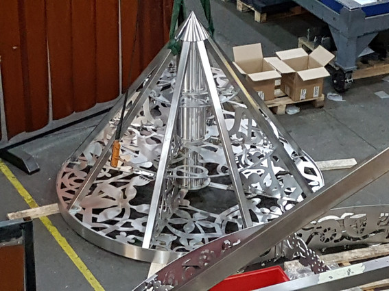 Umbrella in factory