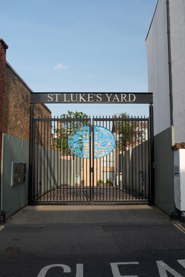 St Luke's Yard entrance gates 2