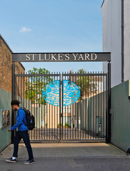 St Luke's Yard, entrance gates