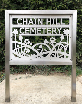 Wantage Cemetery Sign