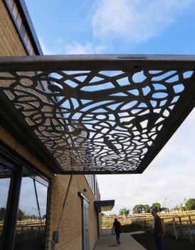 Kiosk window canopy